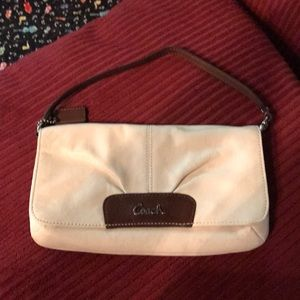 Coach Brown and white wristlet